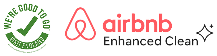 We're Good to Go and Airbnb Enhanced Clean Logos